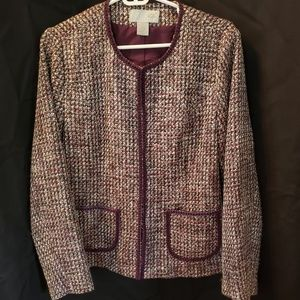 Sz 12 Studio Style tweed purple and grey jacket